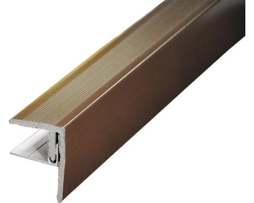 Seitenabschluss Schokobraun 2500x64x48 mm