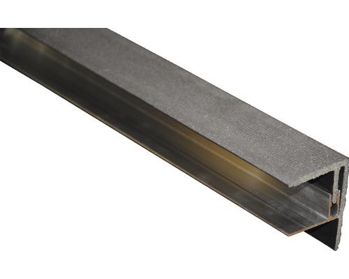 Seitenabschluss Graubraun 2500x64x48 mm