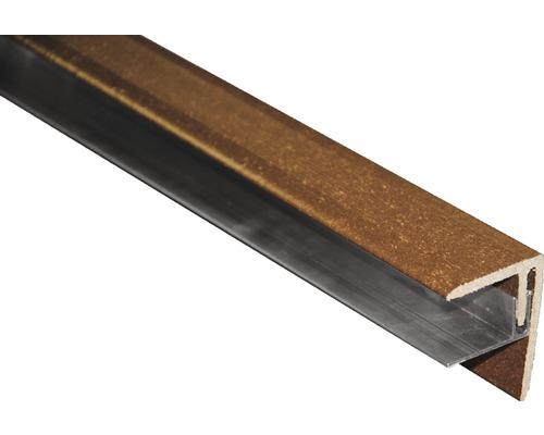 Seitenabschluss Braun 2500x64x48 mm