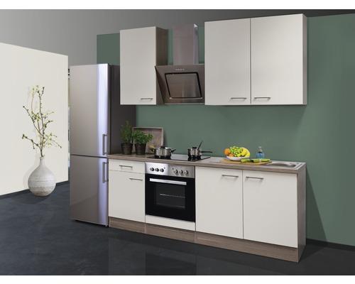 Küchenzeile Eico 210 cm inkl. Einbaugeräte magnolienweiß