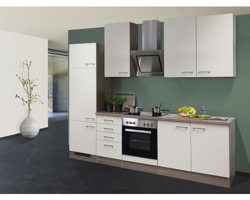 Küchenzeile Eico 270 cm inkl. Einbaugeräte magnolienweiß