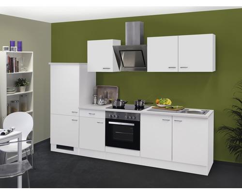 Küchenzeile Wito 270 cm inkl. Einbaugeräte weiß