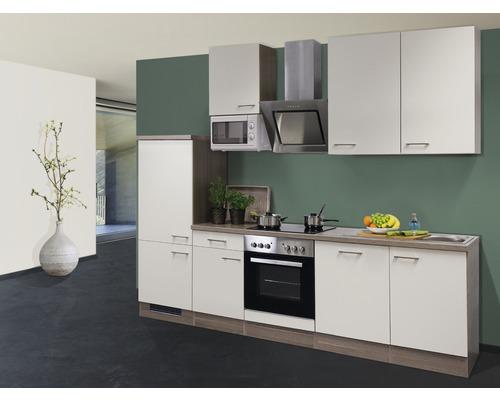 Küchenzeile Eico 280 cm inkl. Einbaugeräte magnolienweiß