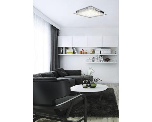 LED Deckenleuchte 17W 3000 K warmweiß 360x360 mm Quadro chrom