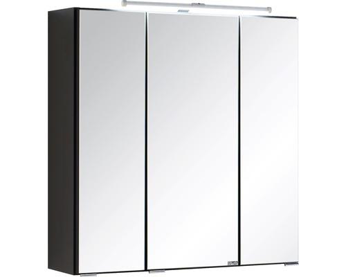 3D-Spiegelschrank 3-türig 60x66 cm Dunkelgrau 003.1.0042