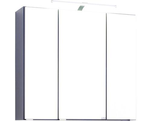 3D-Spiegelschrank 3-türig 70x66 cm Dunkelgrau 007.1.0042