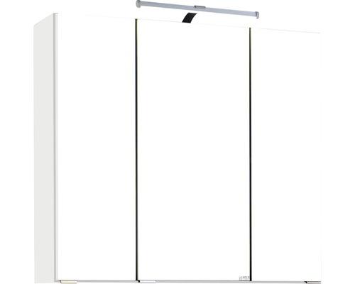 3D-Spiegelschrank 3-türig 70x66 cm Weiß 007.1.0001