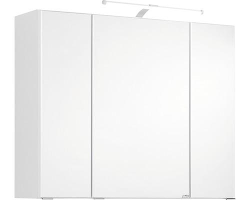 3D-Spiegelschrank 3-türig 80x66 cm Weiß 004.1.0001