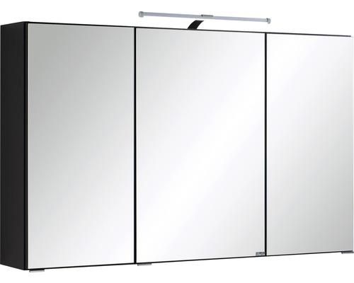 3D-Spiegelschrank 3-türig 100x66 cm Dunkelgrau 005.1.0042