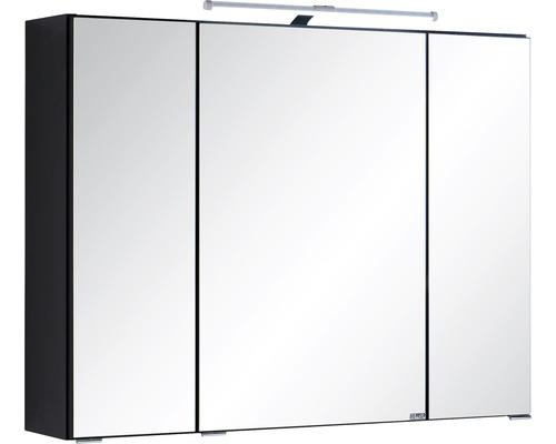 3D-Spiegelschrank 3-türig 80x66 cm Dunkelgrau 004.1.0042