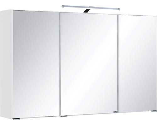 3D-Spiegelschrank 3-türig 100x66 cm Weiß 005.1.0001