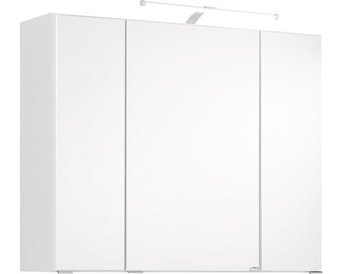 3D-Spiegelschrank 3-türig 90x66 cm Weiß 008.1.0001