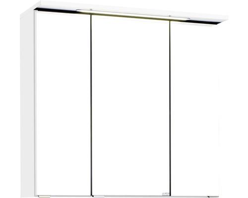 3D-Spiegelschrank 3-türig 70x66 cm Weiß 010.1.0001