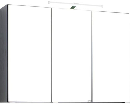 3D-Spiegelschrank 3-türig 90x66 cm Dunkelgrau 008.1.0042