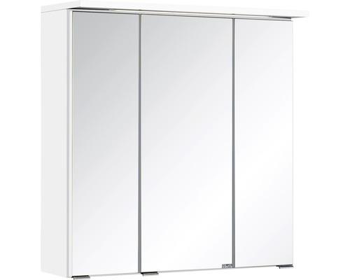 3D-Spiegelschrank 3-türig 60x66 cm Weiß 009.1.0001