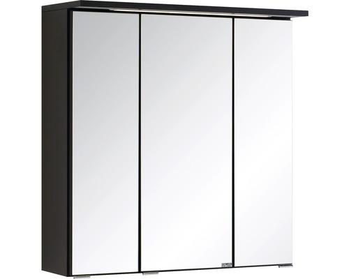 3D-Spiegelschrank 3-türig 60x66 cm Dunkelgrau 009.1.0042