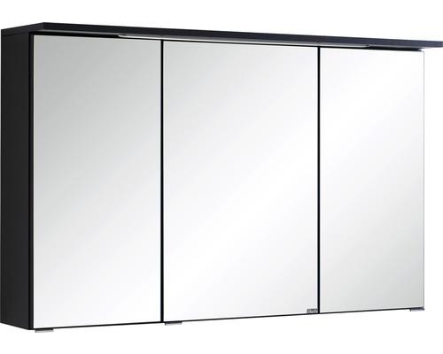 3D-Spiegelschrank 3-türig 100x66 cm Dunkelgrau 013.1.0042