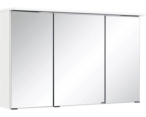3D-Spiegelschrank 3-türig 100x66 cm Weiß 013.1.0001