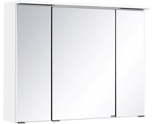 3D-Spiegelschrank 3-türig 80x66 cm Weiß 011.1.0001