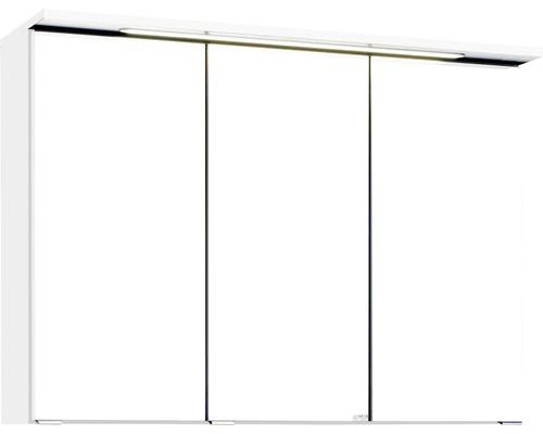 3D-Spiegelschrank 3-türig 90x66 cm Weiß 012.1.0001