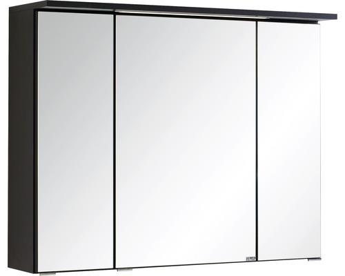 3D-Spiegelschrank 3-türig 80x66 cm Dunkelgrau 011.1.0042