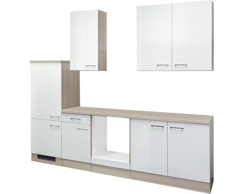 Küchenleerblock Abaco 270 cm perlmutt glänzend