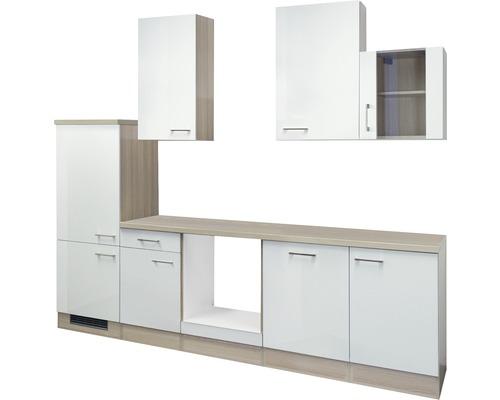 Küchenleerblock Abaco 280 cm perlmutt glänzend