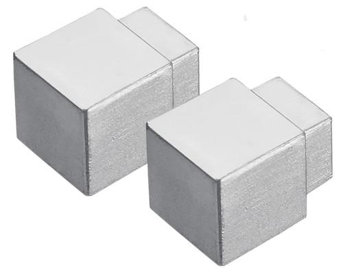 Eckstück Dural Squareline DPSAE 125-Y Aluminium Silber 12,5 mm