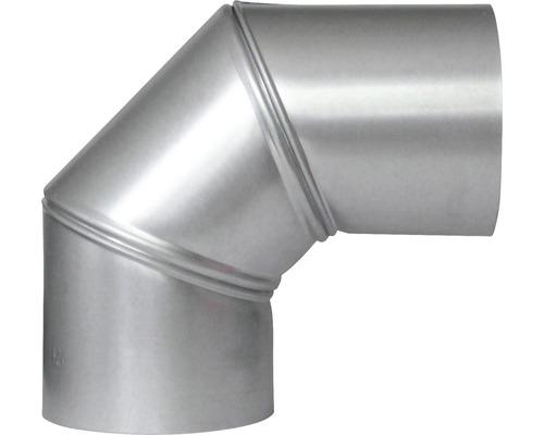 Ofenrohr-Bogen Bertrams verstellbar 0-90° Ø 110 mm feueraluminiert silber