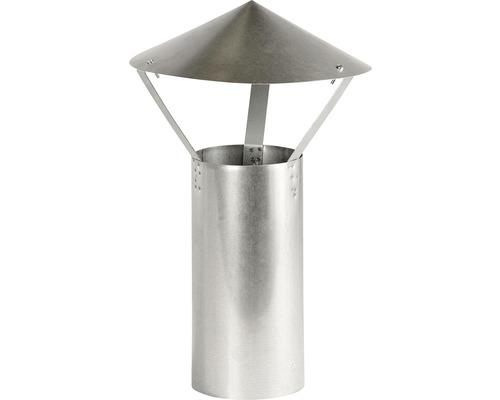Ofenrohr mit Regenhut Bertrams Ø 100 mm feueraluminiert silber