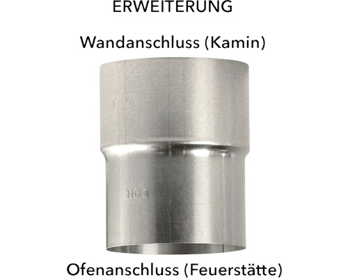 Ofenrohr Erweiterung Ø110-120 mm feueraluminiert