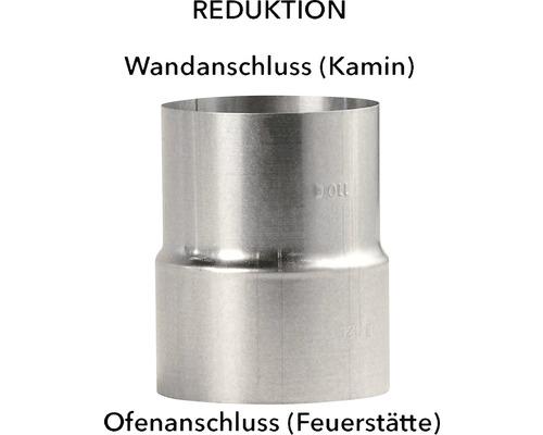 Ofenrohr Reduzierung Ø120-110 mm feueraluminiert