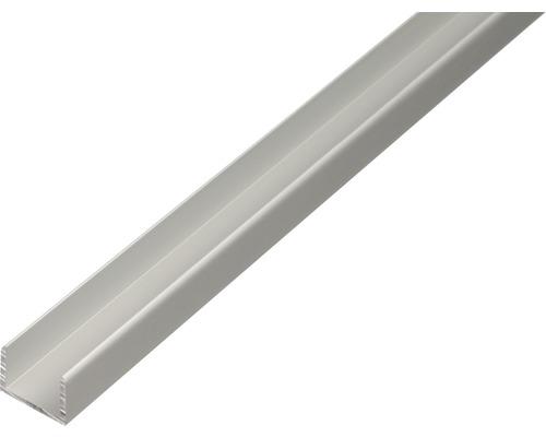 U-Profil Aluminium silber 12,9x10x1,5 mm, 1 m