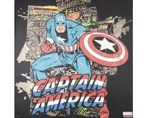 Leinwandbild Marvel, Captain Amercia Black 70x70 cm