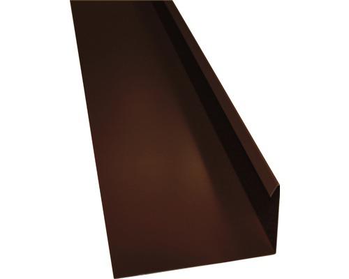 PRECIT Winkelblech mit Wasserfalz chocolate brown RAL 8017 1 m