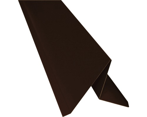 PRECIT Ortblech ohne Wasserfalz chocolate brown RAL 8017 2000 x 105 x 95 mm