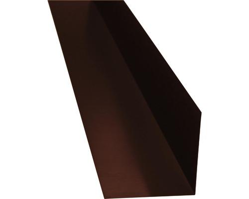 PRECIT Winkelblech ohne Wasserfalz chocolate brown RAL 8017 2 m