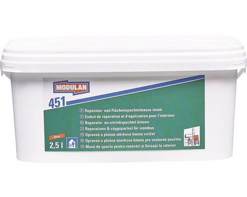 MODULAN Reparaturspachtel / Flächenspachtel 451 innen fein 2,5 l
