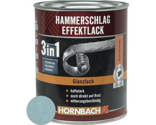Hammerschlaglack Effektlack 3in1 glänzend brillantblau 750 ml