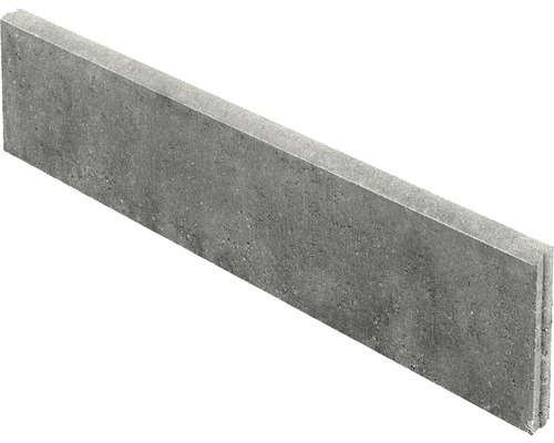 Rasenbordstein Grau 100x25x5 cm
