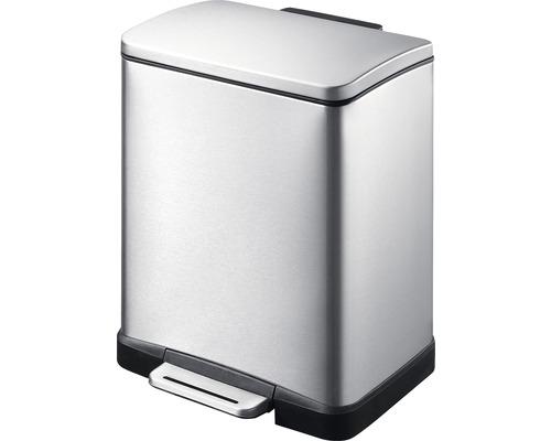 Treteimer E-Cube 12 Liter edelstahl