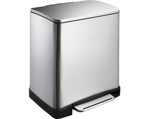 Treteimer E-Cube 10+9 Liter edelstahl