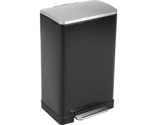 Treteimer E-Cube 40 Liter schwarz