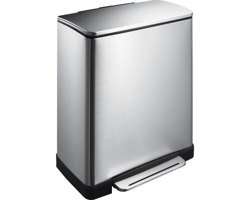 Treteimer E-Cube 28+18 Liter matt chrom