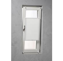 Soluna Plissee-Faltstore mit Seitenverspannung, weiß, 90x240 cm
