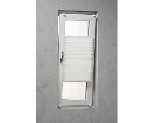 Soluna Plissee-Faltstore mit Seitenverspannung, weiß, 60x130 cm