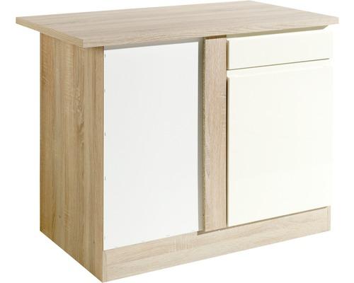 Eck-Unterschrank Held Möbel Cardiff Breite 110 cm creme