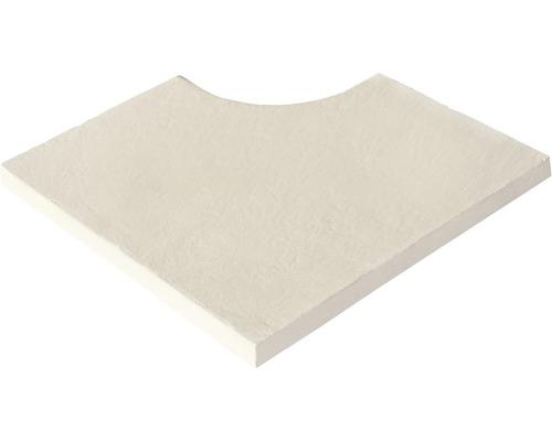Poolumrandung Beckenrandstein Aquitaine flach Element Innenwinkel für Radius 15 cm wieß 49,5 x 31 x 3,2 cm