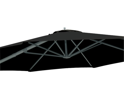 Sonnenschirmbespannung für Montego Ampelschirm Ø 350 cm, schwarz