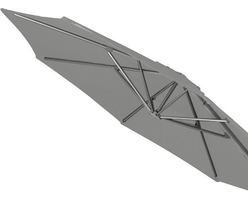 Sonnenschirmbespannung für Montego Ampelschirm Ø 350 cm, grau